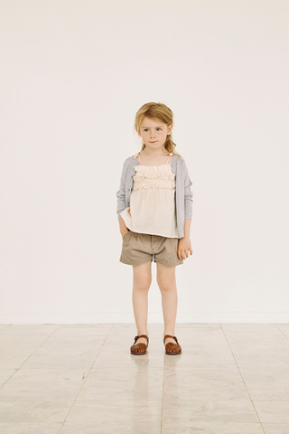 Trille Frilly Top in Pale Dogwood