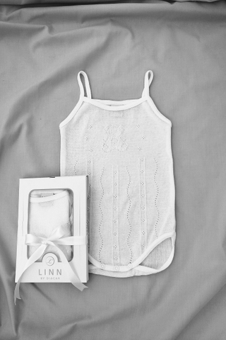 Sweet Teddy Strap Bodysuit in White